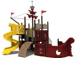 Pirate Ship Park Playground Structure
