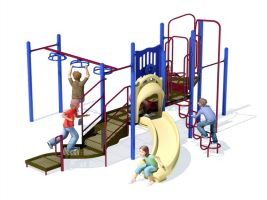 Compact commercial playset with big play-value!