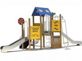 playground-with-stainless-steel-slides