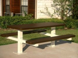8ft Rectangular Double Pedestal Table