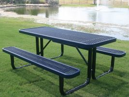Commercial Picnic Table in Expanded Metal style