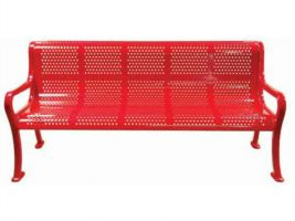 Roll Formed 6ft Bench - Perforated