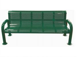 Roll Formed 6ft U-Leg Perforated Bench