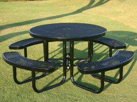 Commercial Round Table in Expanded Metal style