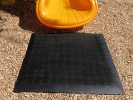 Rubber Playground Mat for Swings & Slides