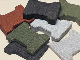 Recycled Rubber Surface Pavers