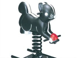Detailed Savvy Skunk Outdoor Spring Toy