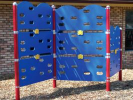 Commercial climbing panels for school playgrounds
