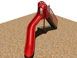 Independent playground slide - 6 ft rotomolded plastic