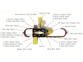 Top View Buoys & Girls Ship