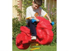 Commercial playground spring toy motorcycle