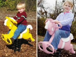 Outdoor Pony Spring Toy For Commercial Playgrounds