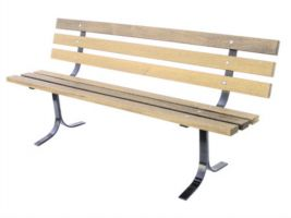 Classic Pine Bench for Commercial use in Parks