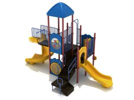 2-Story Commercial Playset With Spiral Slide Fun