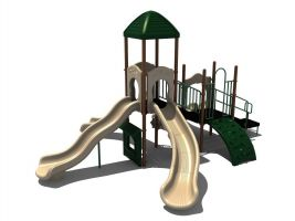 Multi-Slide Outdoor Playset (neutral)