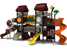 incredible two story playground structure - Commercial Playground Equipment