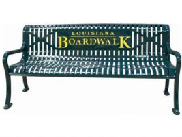 Dual Color Logo 5ft Bench - Diamond Pattern
