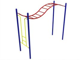 Wavy Monkey Bars for Kids