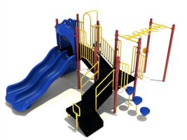 Dual Wave Slide School Playground