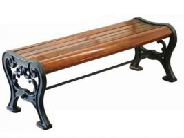 Victorian Style Backless Wood Bench 6' Mahogany