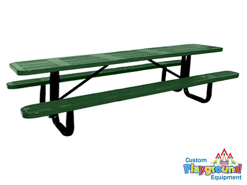 10ft commercial perforated picnic table for 10 ft picnic table