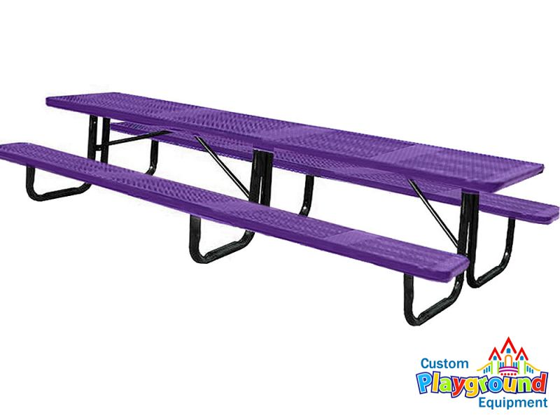 12ft commercial perforated picnic table for 12 foot picnic table