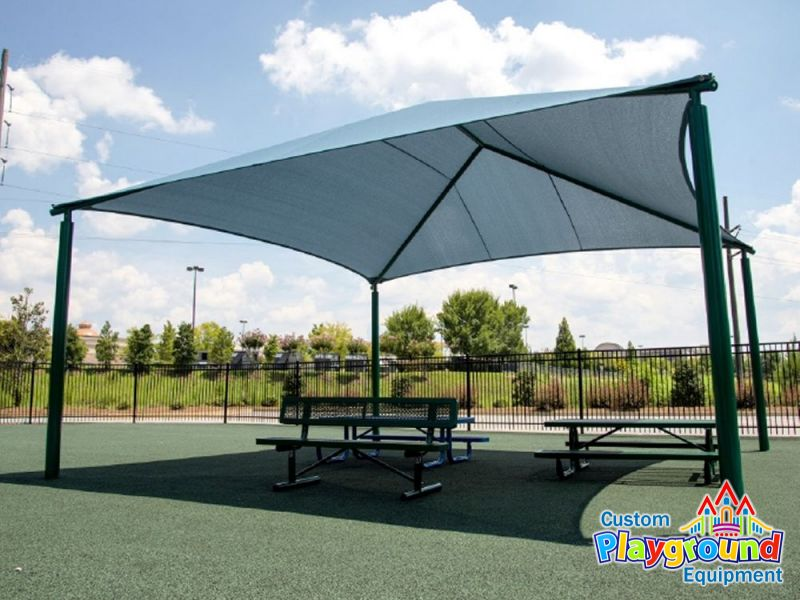 40 x 36 playground shade structure for Metal sun shade structures