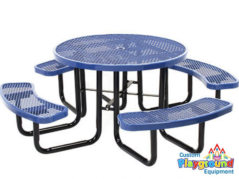 Portable Expanded Metal Picnic Table CustomPlaygroundEquipmentcom - Playground picnic table