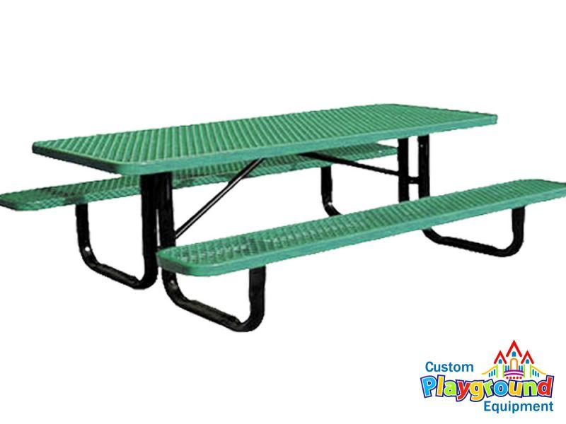 Portable Skate Park Equipment : Portable metal picnic table
