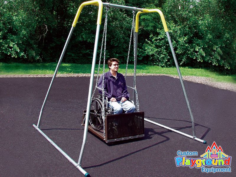 Commercial grade wheel chair swing platform for Handicapped wheelchair