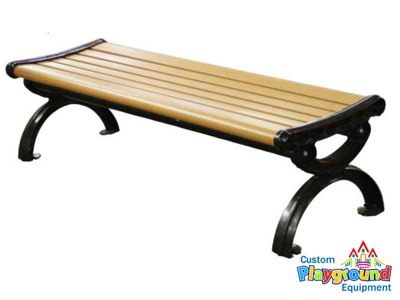 Backless Victorian Park Bench Recycled Plastic