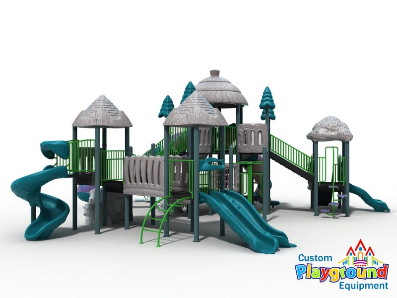 Commercial super structure outdoor play for Large garden equipment