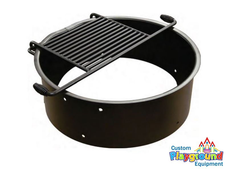 pit ring with grill pit ring with attached grill grate model fs 24 6 redroofinnmelvindale