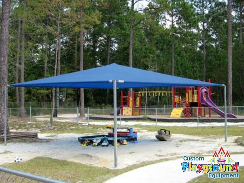 Shady days playground shade structure for Sun shade structure