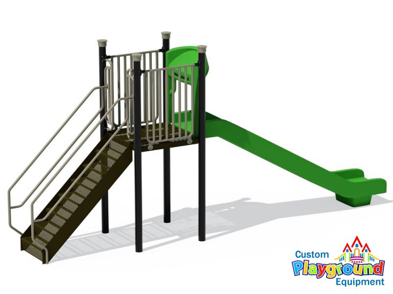 standard 5 ft commercial playground slide single straight 5u0027 60in kids slides - Commercial Playground Equipment