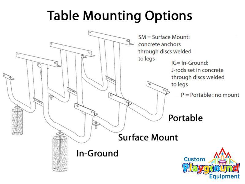 Portable Childrens Picnic Table CustomPlaygroundEquipmentcom - Picnic table anchors