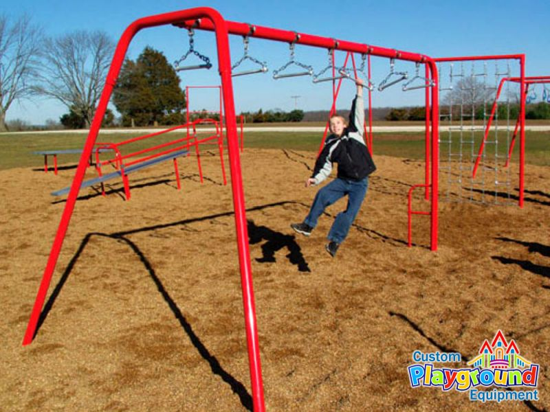 Swinging Playground Equipment : Commercial playground swing bars for fitness