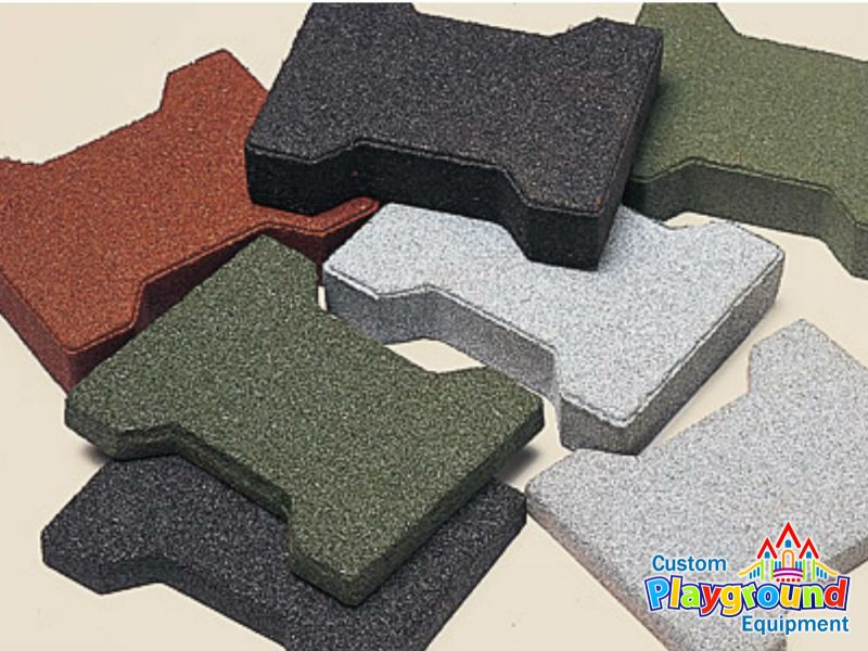 Recycled Rubber Surface Pavers ...