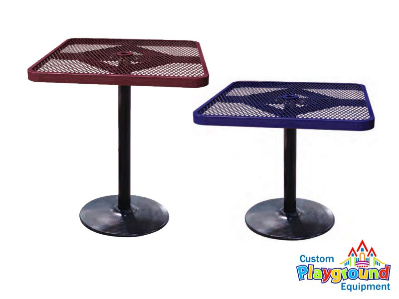 ... Square Expanded Metal Cafe Barstool Table ...