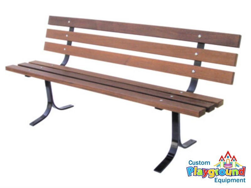 Classic Mahogany Bench For Commercial Use In Parks